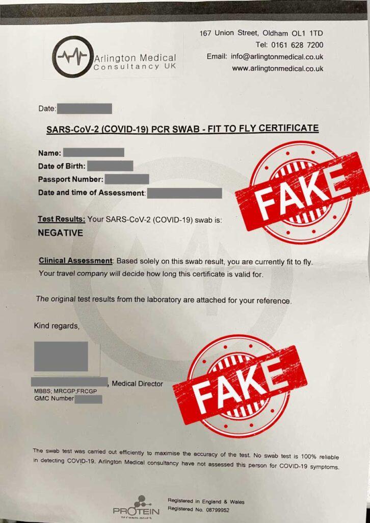 Covid-Fake-Certificae